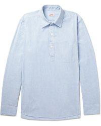 Arpenteur - Striped Cotton Half-placket Shirt - Lyst