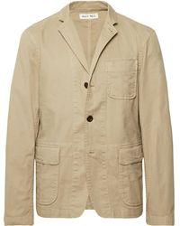 Alex Mill - Beige Sack Unstructured Stretch Cotton-twill Blazer - Lyst