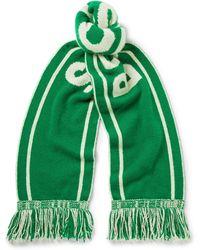 The Elder Statesman - - Nba Celtics Fringed Intarsia Cashmere Scarf - Forest Green - Lyst