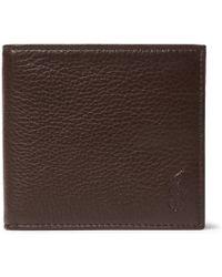 Polo Ralph Lauren - Grained-leather Billfold Wallet - Lyst