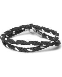 Tod's | - Woven Leather Wrap Bracelet - Blue | Lyst