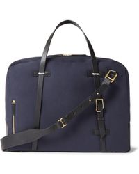 Miansai - Monroe Leather-trimmed Canvas Holdall - Lyst