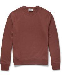Acne Studios - Casey Loopback Cotton-jersey Sweatshirt - Lyst
