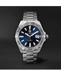 ec49a00426ca Tag Heuer Aquaracer Automatic 43mm Titanium And Nylon Watch in Green ...