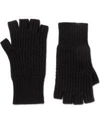 Rag & Bone - Kaden Ribbed Cashmere Fingerless Gloves - Lyst