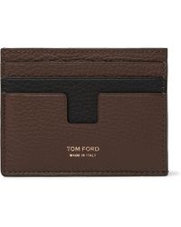 Tom Ford - Two-tone Full-grain Leather Cardholder - Lyst