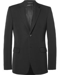 Calvin Klein - Black Bowery Slim-fit Wool-faille Blazer - Lyst
