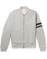Kingsman - + Todd Snyder + Champion Harry's Fleece-back Cotton-blend Jersey Zip-up Sweatshirt - Lyst