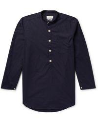 Oliver Spencer - Abbott Organic Cotton Half-placket Pyjama Shirt - Lyst