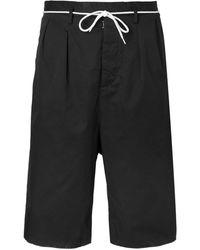 Maison Margiela - Wide-leg Cotton Drawstring Shorts - Lyst