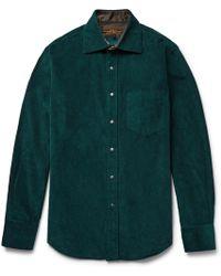 Freemans Sporting Club - Hopkins Cotton-corduroy Shirt - Lyst