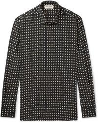Saint Laurent - Slim-fit Printed Silk Shirt - Lyst