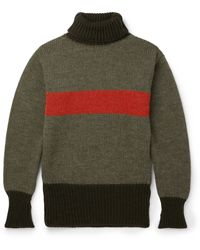 Nigel Cabourn - Striped Wool Rollneck Jumper - Lyst