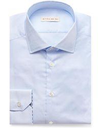 Etro - Light-blue Slim-fit Cotton Shirt - Lyst