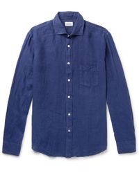 Hartford - Paul Slub Linen Shirt - Lyst