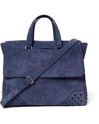 Tod's | Gommino Suede Holdall | Lyst