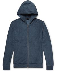 Theory - Slim-fit Pima Cotton-terry Zip-up Hoodie - Lyst