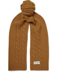 Oliver Spencer - Arbury Cable-knit Wool Scarf - Lyst