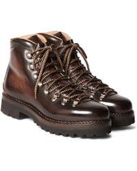 Ralph Lauren Purple Label - Fidel Ii Burnished-leather Boots - Lyst