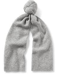 COS - Textured Alpaca-blend Scarf - Lyst