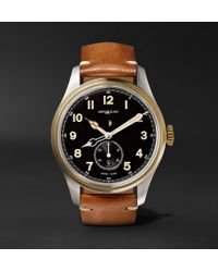 Montblanc - 1858 Automatic 44mm Stainless Steel And Leather Watch - Lyst