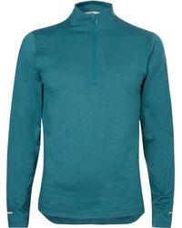 Asics | Mélange Stretch-jersey Half-zip Top | Lyst