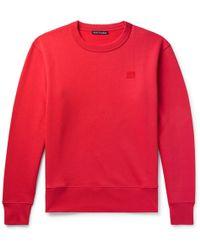 Acne Studios - Fairview Fleece-back Cotton-jersey Sweatshirt - Lyst