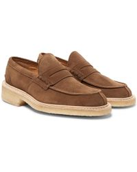 Tricker's - James Suede Penny Loafers - Lyst