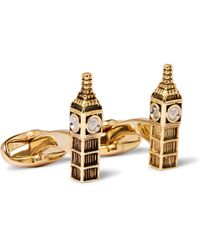 Paul Smith - Big Ben Gold And Silver-tone Cufflinks - Lyst