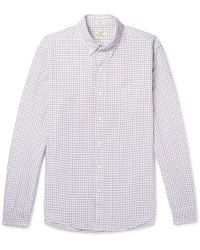J.Crew | Slim-fit Button-down Collar Checked Cotton Oxford Shirt | Lyst