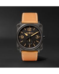 Bell & Ross - Br S Heritage 39mm Ceramic And Leather Watch - Lyst