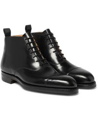 George Cleverley - William Cap-toe Horween Shell Cordovan Leather Boots - Lyst