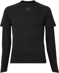Under Armour - Run Layered Microthread And Waffle-knit Top - Lyst