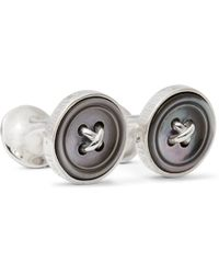 Turnbull & Asser - Sterling Silver Mother-of-pearl Cufflinks - Lyst