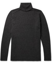 Nonnative - Mélange Wool And Cotton Blend-rollneck Sweater - Lyst
