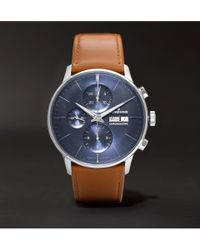 Junghans - Meister Chronoscope 40mm Stainless Steel And Leather Watch - Lyst