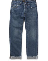 Chimala - Cuffed Selvedge Denim Jeans - Lyst