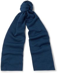 John Smedley - Lark New Wool Scarf - Lyst