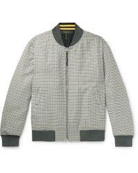 Rag & Bone - Manston Reversible Houndstooth Cotton And Wool-blend Bomber Jacket - Lyst