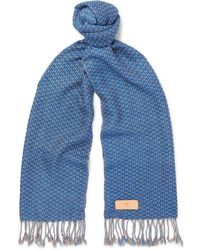 Il Bussetto - Checked Woven Cotton Scarf - Lyst