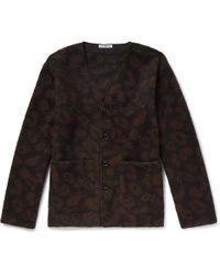 Our Legacy - Leopard Jacquard-knit Cardigan - Lyst