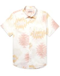 Outerknown - Essential Printed Slub Organic Cotton And Hemp-blend Shirt - Lyst