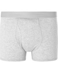 Handvaerk - Mélange Pima Cotton-jersey Boxer Briefs - Lyst