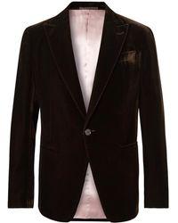 Berluti - Dark-brown Velvet Tuxedo Jacket - Lyst