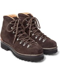Ralph Lauren Purple Label - Findel Ii Leather-panelled Suede Boots - Lyst