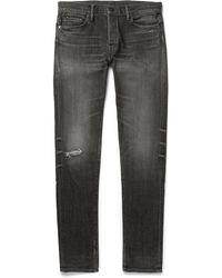 John Elliott - Slim-fit Distressed Denim Jeans - Lyst