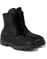 Guidi - Distressed Cordovan Leather Boots - Lyst