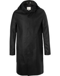 Mackintosh - Bonded Wool And Cotton Hooded Coat - Lyst