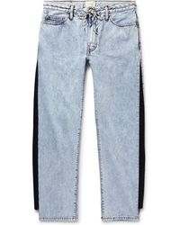 Aries - Twill-trimmed Acid-washed Jeans - Lyst