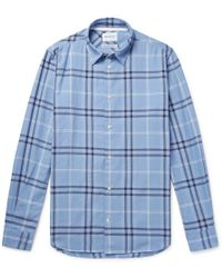 Norse Projects - Hans Checked Cotton-twill Shirt - Lyst
